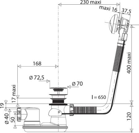 schéma dimensionnel VAL-582000