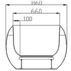 schéma dimensionnel EGG ADRYA type PBG021H